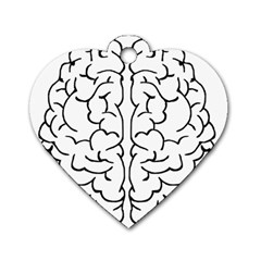 Brain Mind Gray Matter Thought Dog Tag Heart (Two Sides)