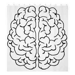 Brain Mind Gray Matter Thought Shower Curtain 66  x 72  (Large)