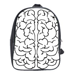 Brain Mind Gray Matter Thought School Bags(Large)