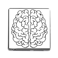 Brain Mind Gray Matter Thought Memory Card Reader (Square)