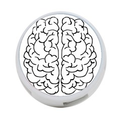 Brain Mind Gray Matter Thought 4-Port USB Hub (Two Sides)