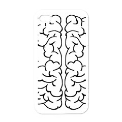 Brain Mind Gray Matter Thought Apple iPhone 4 Case (White)