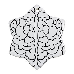 Brain Mind Gray Matter Thought Ornament (snowflake)