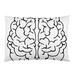 Brain Mind Gray Matter Thought Pillow Case (two Sides)