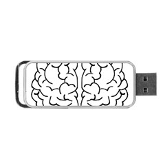 Brain Mind Gray Matter Thought Portable Usb Flash (two Sides)