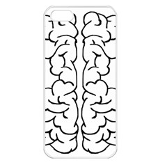 Brain Mind Gray Matter Thought Apple iPhone 5 Seamless Case (White)