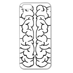 Brain Mind Gray Matter Thought Apple Seamless iPhone 5 Case (Clear)