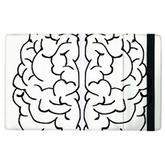 Brain Mind Gray Matter Thought Apple iPad 2 Flip Case