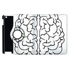 Brain Mind Gray Matter Thought Apple Ipad 3/4 Flip 360 Case