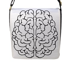 Brain Mind Gray Matter Thought Flap Messenger Bag (l)
