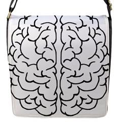 Brain Mind Gray Matter Thought Flap Messenger Bag (s)