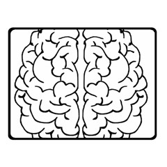 Brain Mind Gray Matter Thought Double Sided Fleece Blanket (small)
