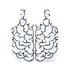 Brain Mind Gray Matter Thought Full Print Recycle Bags (m)