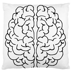 Brain Mind Gray Matter Thought Large Flano Cushion Case (two Sides)