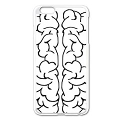 Brain Mind Gray Matter Thought Apple Iphone 6 Plus/6s Plus Enamel White Case