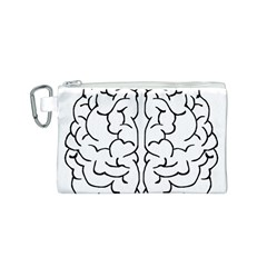 Brain Mind Gray Matter Thought Canvas Cosmetic Bag (S)