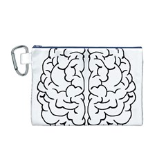 Brain Mind Gray Matter Thought Canvas Cosmetic Bag (m)