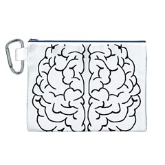 Brain Mind Gray Matter Thought Canvas Cosmetic Bag (l)