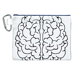 Brain Mind Gray Matter Thought Canvas Cosmetic Bag (xxl)