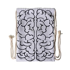 Brain Mind Gray Matter Thought Drawstring Bag (small)