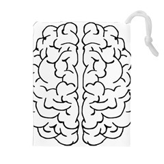 Brain Mind Gray Matter Thought Drawstring Pouches (Extra Large)