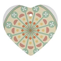 Blue Circle Ornaments Ornament (heart)