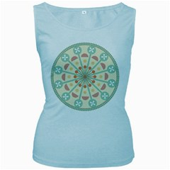 Blue Circle Ornaments Women s Baby Blue Tank Top