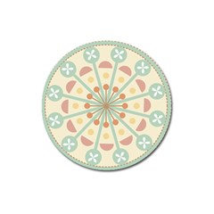 Blue Circle Ornaments Magnet 3  (round)