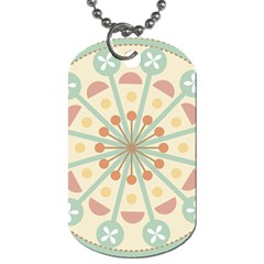 Blue Circle Ornaments Dog Tag (Two Sides)