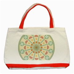Blue Circle Ornaments Classic Tote Bag (red)