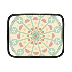 Blue Circle Ornaments Netbook Case (small)