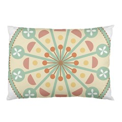 Blue Circle Ornaments Pillow Case