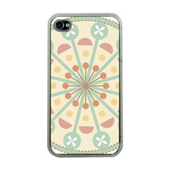 Blue Circle Ornaments Apple Iphone 4 Case (clear)