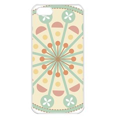 Blue Circle Ornaments Apple Iphone 5 Seamless Case (white)