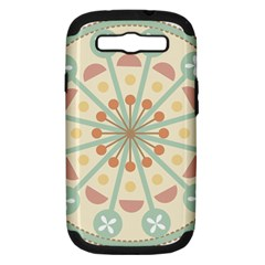 Blue Circle Ornaments Samsung Galaxy S III Hardshell Case (PC+Silicone)