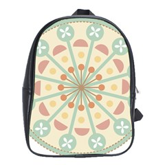 Blue Circle Ornaments School Bags (xl)
