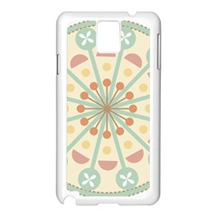 Blue Circle Ornaments Samsung Galaxy Note 3 N9005 Case (white)