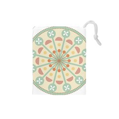 Blue Circle Ornaments Drawstring Pouches (small)