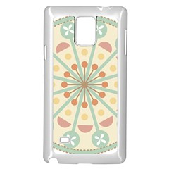Blue Circle Ornaments Samsung Galaxy Note 4 Case (white)