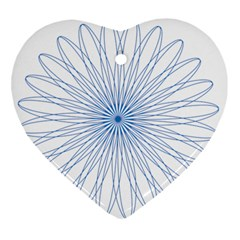 Spirograph Pattern Circle Design Ornament (heart)