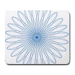 Spirograph Pattern Circle Design Large Mousepads