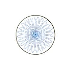 Spirograph Pattern Circle Design Hat Clip Ball Marker (4 Pack)