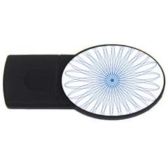 Spirograph Pattern Circle Design USB Flash Drive Oval (4 GB)