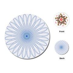 Spirograph Pattern Circle Design Playing Cards (round)