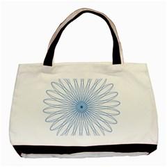 Spirograph Pattern Circle Design Basic Tote Bag