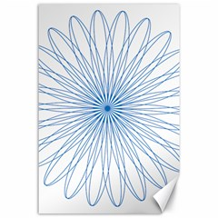 Spirograph Pattern Circle Design Canvas 24  x 36