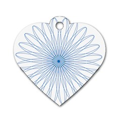 Spirograph Pattern Circle Design Dog Tag Heart (two Sides)