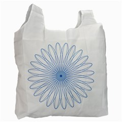 Spirograph Pattern Circle Design Recycle Bag (two Side)