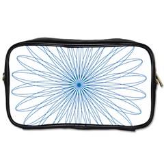 Spirograph Pattern Circle Design Toiletries Bags 2-Side