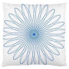 Spirograph Pattern Circle Design Large Cushion Case (One Side)